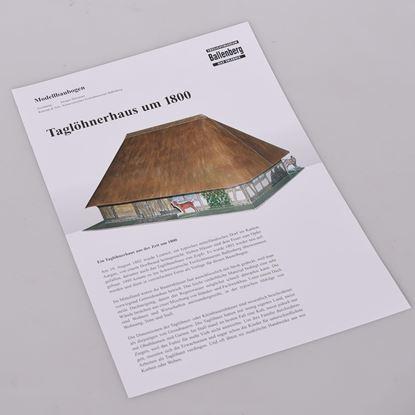 Bild von Modellbaubogen «Taglöhnerhaus um 1800»